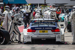 Pit stop for Maxime Martin, BMW Team RMG BMW M4 DTM