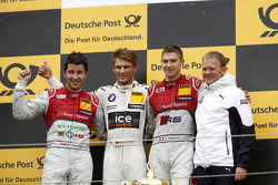 Podium, 2nd Mike Rockenfeller, Audi Sport Team Phoenix Audi RS 5 DTM, 1st Marco Wittmann, BMW Team RMG BMW M4 DTM, 3rd Edoardo Mortara, Audi Sport Team Abt Audi RS 5 DTM, Stefan Reinhold , BMW Team RMG