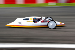 F1: Fernando Alonso, Scuderia Ferrari drives a car from the Shell Eco Marathon