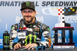 Post-race press conference: second place #43 Hoonigan Racing Division Ford Fiesta ST: Ken Block