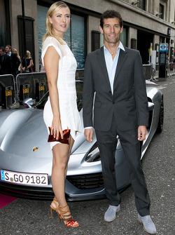 Maria Sharapova and Mark Webber with the Porsche 918 Spyder