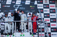 Podium from left: #4 Oman Racing Team Aston Martin Vantage GT3: Ahmad Al Harthy, Michael Caine #31 Trackspeed Porsche 997 GT3 R GT3: David Ashburn, Nick Tandy #5 Oman Racing Team Aston Martin Vantage GT3: Jeff Smith, Rory Butcher