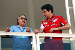 (L to R): Joe Custer, Stewart Haas Racing Vice President with Mattia Binotto, Ferrari Race Engine Manager