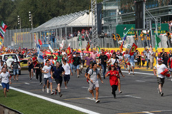 Fans take over the track