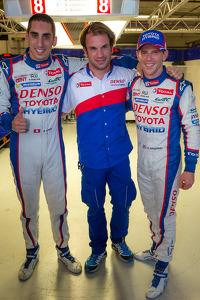 LMP1 pole winners Anthony Davidson, Nicolas Lapierre, Sébastien Buemi