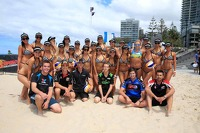 Miss V8 Supercar volleyball game versus the drivers