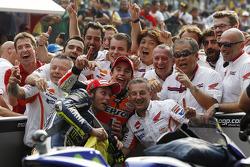 Marc Marquez, Repsol Honda Team and Valentino Rossi, Yamaha