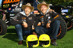 Tom Coronel and brother Tim Coronel with the Maxxis Dakar Team buggy
