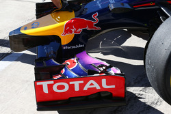 Red Bull Racing RB10 carrying a tribute to Jules Bianchi