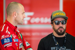 Gianmaria Bruni with Fernando Alonso