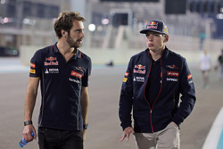 (L to R): Jean-Eric Vergne, Scuderia Toro Rosso walks the circuit with Max Verstappen, Scuderia Toro Rosso Test Driver