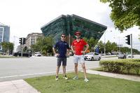 Nicolas Prost, e.dams-Renault and Jaime Alguersuari, Virgin Racing at the Putrajaya Energy Commission Diamond Building