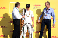 Lewis Hamilton, Mercedes AMG F1 collects his DHL Fastest Lap Award