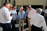 Bernie Ecclestone, with British journalists