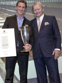 Winner of the Porsche Cup 2014: Jaap van Lagen with Wolfgang Porsche