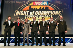 NASCAR Touring champions Anthony Kumpen, Andy Seuss, Abraham Calderon, Louis-Philippe Dumoulin, Doug Coby, Ben Rhodes, Greg Pursley