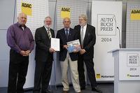 Reinhard Klein, publisher, Thomas Burkhardt from ADAC, Author Ed Heuvink and Jürgen Lewandowski, head of selection jury present Heuvink the AutoBuchPress Award