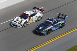 #912 Porsche North America Porsche 911 RSR: Jörg Bergmeister, Earl Bamber, Frederic Makowiecki, #23 Team Seattle/Alex Job Racing Porsche 911 GT America: Ian James, Mario Farnbacher, Alex Riberas