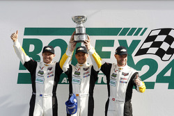 GTLM podium: winners Jan Magnussen, Antonio Garcia, Ryan Briscoe