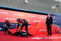 (L to R): Max Verstappen, Scuderia Toro Rosso and team mate Carlos Sainz Jr., Scuderia Toro Rosso unveil the new Scuderia Toro Rosso STR10