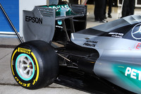 Mercedes AMG F1 W06 rear wing and rear suspension