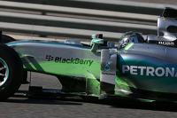 Nico Rosberg, Mercedes AMG F1 W06 running flow-vis paint