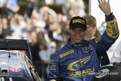 Finish podium: Petter Solberg