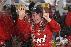 Victory lane: sitxth win of 2004 for Dale Earnhardt Jr.