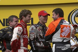 Kasey Kahne, Kevin Harvick and Tony Stewart