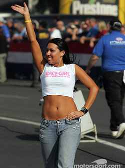 Race girl in action