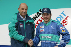 Peter Sauber and Jacques Villeneuve