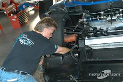 Howard - Boss Motorsports crew member at work