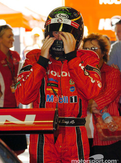 Mark Skaife prepares for the shoot out