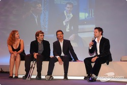 Dr Mario Theissen with Alex Zanardi and Andy Priaulx