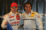 The Nations Cup 2004 winners Jean Alesi and Sbastien Loeb of Team France 1