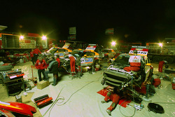 Mitsubishi Motors Repsol ATS Studios Team service area at the Atar bivouac