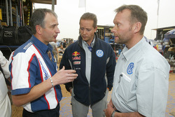 Volkswagen Motorsport director of design Eduard Weidl and Volkswagen Motorsport director Kris Nissen