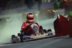 Kart race on ice: Rubens Barrichello