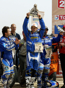 Podium: bike winner Cyril Despres