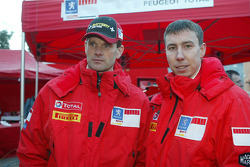 Marcus Gronholm and Markko Martin