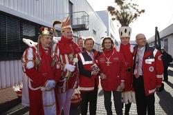 Jarno Trulli gets into Cologne Carnival spirit