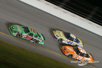 Bobby Labonte, Ken Schrader and Tony Stewart