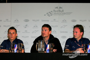 Red Bull Racing press conference: Christian Klien, David Coulthard and Christian Horner