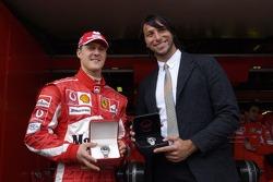 Michael Schumacher and Ian Thorpe