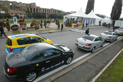 Renault cars on display