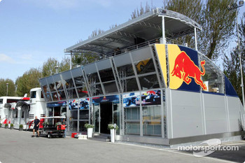 The new Red Bull Racing hospitality area