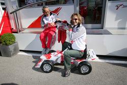 Team Toyota's present for Jarno Trulli's first born son