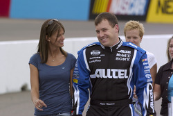 Ryan Newman walks with Krissie down pitlane