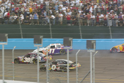 Jason Leffler spins in turn 2