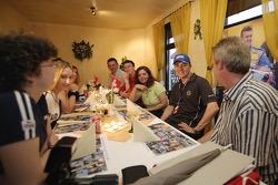 Marcel Fassler with fans